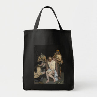 Jesus Mocked by the Soldiers by Edouard Manet Grocery Tote Bag