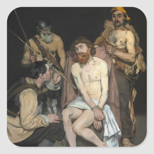 Jesus Mocked by the Soldiers by Edouard Manet Sticker