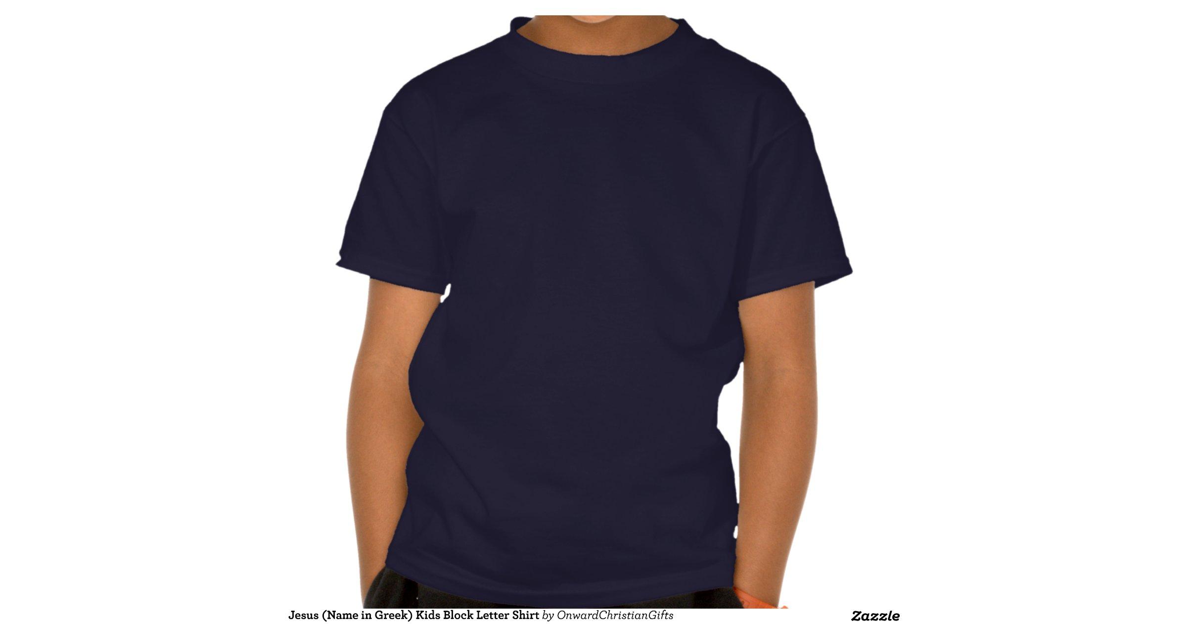 Block Letter Greek Shirts