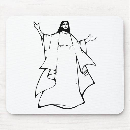 Jésus Noir Mousepads