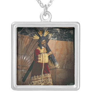 Jesus of Great Power, 1620 Silver Plated Necklace
