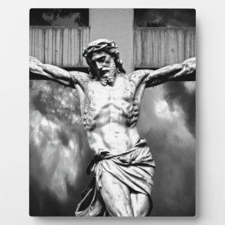 Jesus on a Cross Photo Plaques