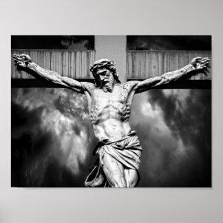 Jesus on a Cross Poster