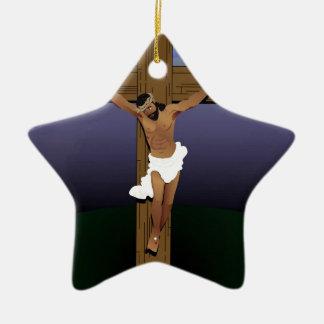 Jesus on Cross.jpg Christmas Ornament
