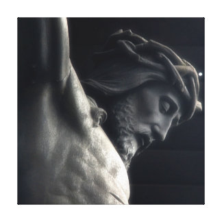Jesus on Cross Wrapped Canvas
