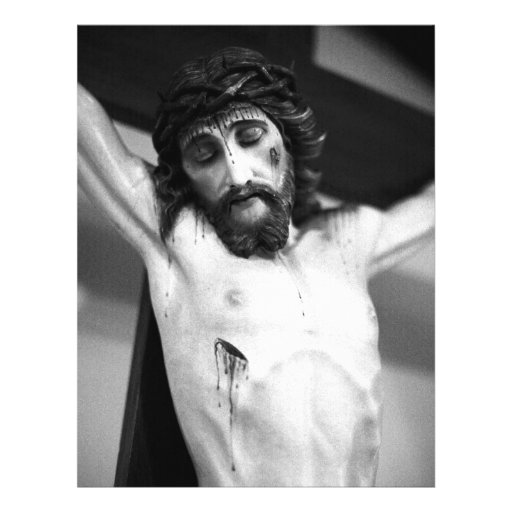 Jesus on the cross personalized flyer
