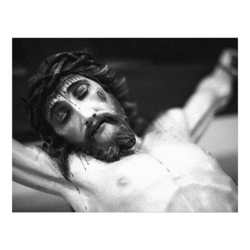Jesus on the cross flyer