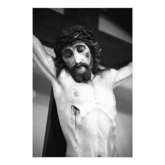Jesus on the cross photo print
