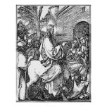 Jesus on the Donkey Palm Sunday Etching Poster