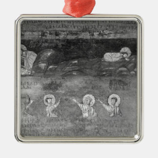 Jesus on the Mount of Olives Silver-Colored Square Decoration