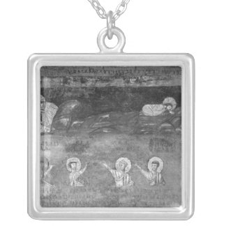 Jesus on the Mount of Olives Silver Plated Necklace