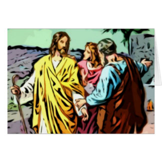 Jesus on the Road to Emmaus Greeting Card