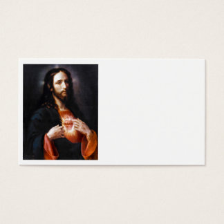 Jesus Opens His Heart to Us Business Card
