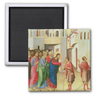 Jesus Opens the Eyes of a Man Born Blind, 1311 Square Magnet