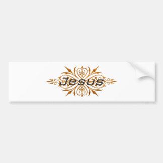 Jesus Ornement2 Cuivre noir. Car Bumper Sticker