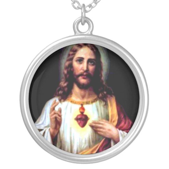 Jesus, Our Saviour Silver Plated Necklace