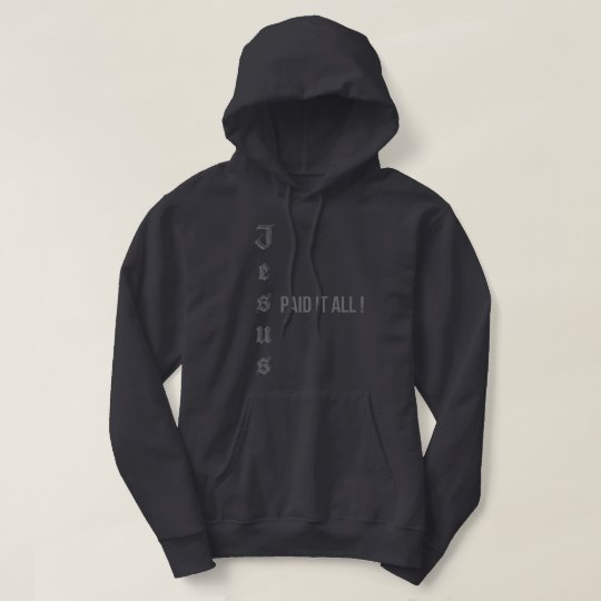 Jesus Paid It All Graphic Black and Grey