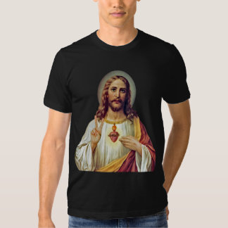 Jesus Peace Sign Sacred Heart T Shirts