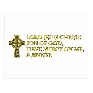 Jesus Prayer with Celtic Cross Postcard