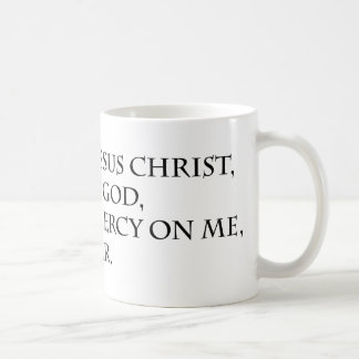 Jesus Prayer with Jerusalem Cross Basic White Mug