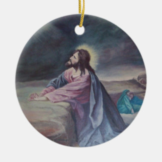 Jesus Praying at Gethsemane Christmas Ornament