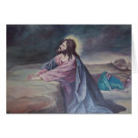 Jesus Praying at Gethsemane Greeting Card