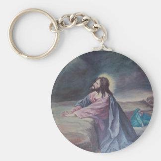 Jesus Praying at Gethsemane Key Ring