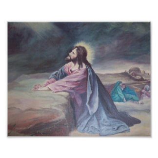 Jesus Praying at Gethsemane Photo Print