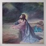 Jesus Praying at Gethsemane Poster