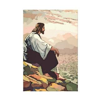 Jesus Praying for Jerusalem Gallery Wrapped Canvas