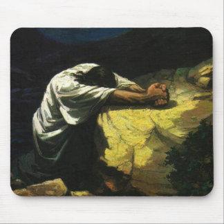 Jesus Praying Mouse Mat