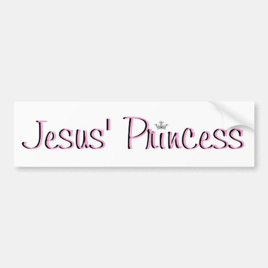 Jesus' Princess-pink Bumper Sticker