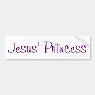 Jesus' Princess-purple Bumper Sticker