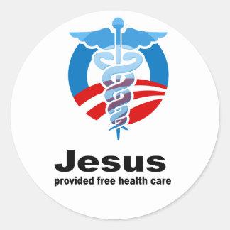 Jesus provided free healthcare sticker