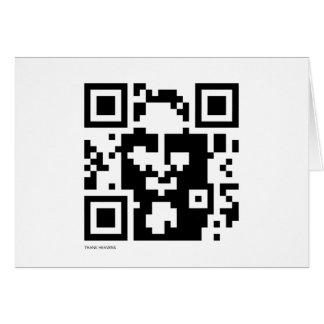 Jesus QR Code Greeting Card