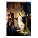 Jesus Raising Lazarus from the Dead Poster