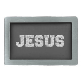 Jesus Rectangular Belt Buckles