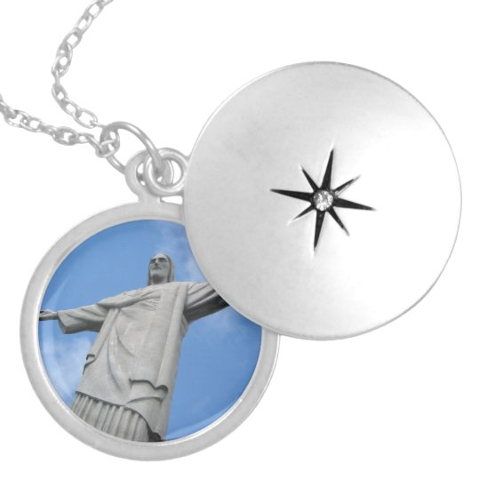 jesus redeemer locket necklace