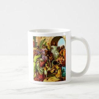 Jesus Rides the Donkey into Jerusalem Basic White Mug