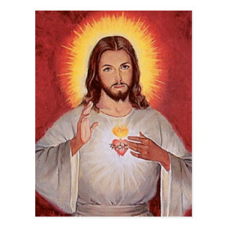 Jesus sacred heart postcard