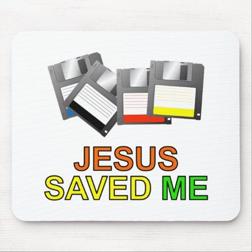 Jesus Saved Me (Floppy Disk) Mousepad