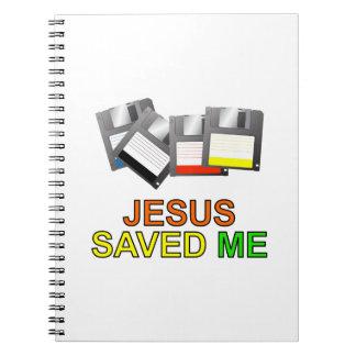 Jesus Saved Me Floppy Disk Spiral Notebooks