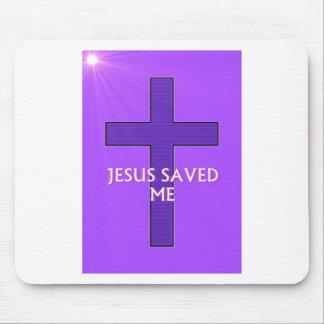 Jesus Saved Me Mouse Pad