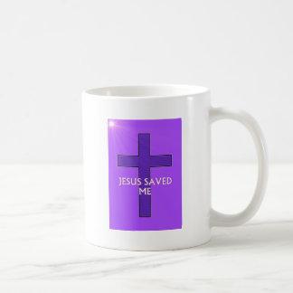Jesus Saved Me Basic White Mug