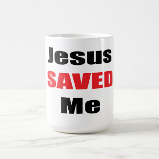 Jesus Saved Me Mug