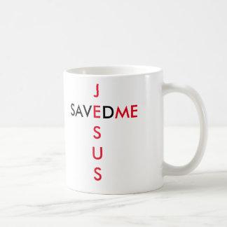 Jesus saved me classic white coffee mug