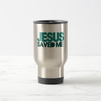 Jesus Saved Me Stainless Steel Travel Mug