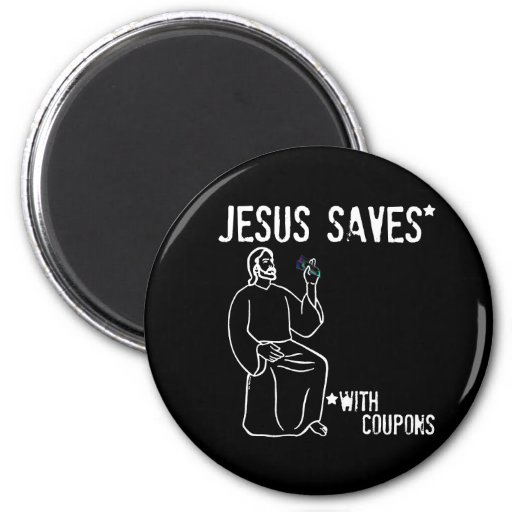 Jesus Saves 6 Cm Round Magnet