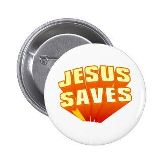 Jesus Saves! 6 Cm Round Badge