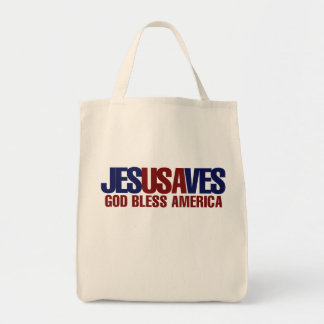 Jesus Saves Canvas Bags